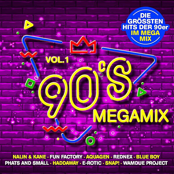 VA - 90's Megamix Vol.1: Die Grossten Hits Der 90er Im Megamix [2CD] (2020) MP3 скачать торрент